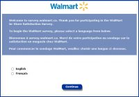 Wal-Mart In-Store Customer Feedback Survey